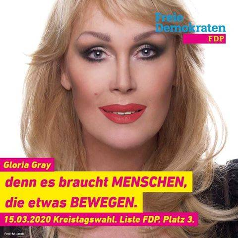 Gloria Gray_Wahlplakat 2020