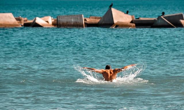 Mann Spanien Strand
