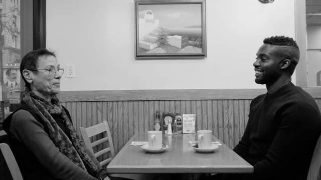 "Adam Pendleton, Filmstill aus ""Just back from Los Angeles: A Portrait of Yvonne Rainer"""