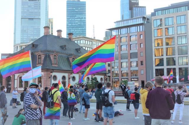 Solidaritäts-Demo für polnische Queers