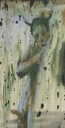 ANDREJ DÚBRAVSKY: Have Something To Say ?, 2014 acrylic on canvas, 150 x 75 cm / 59 x 29 1/2 in