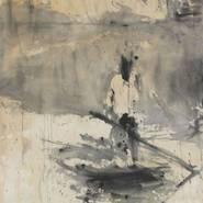 ANDREJ DÚBRAVSKY: Content Removal, 2014 acrylic on canvas, 183 x 85 cm / 72 x 33 1/2 in