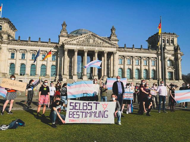 Trans* Day of Visibility, Transgender Day of Visibility, Reichstagsgebäude, Sitz vom Bundestag