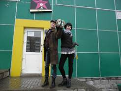 Dennis & Lina vor dem Artcafé in Termintau