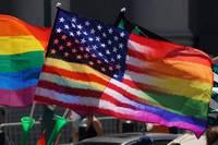 Rainbow Flag USA Flag