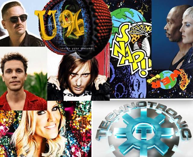 Robin Schulz, U96, Felix Jaehn, SNAP!, David Guetta, Technotronic, Cascada, Faithless