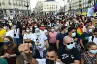 Madrid Demonstrationen LGBTIQ Spanien