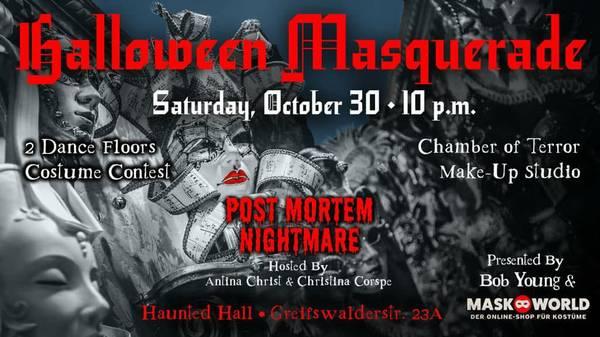 Halloween Masquerade 2021 *Post-Mortem Nightmare!* by Bob Young & Maskworld Berlin
