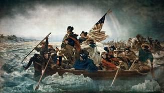 Emanuel Gottlieb Leutze, Washington überquert den Delaware vor seinem Sieg bei Trenton, 1851 (Metropolitan Museum of Art, New York)
