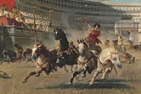 Alexander Wagner, Wagenrennen im Circus Maximus, um 1898, City Art Galleries, Manchester