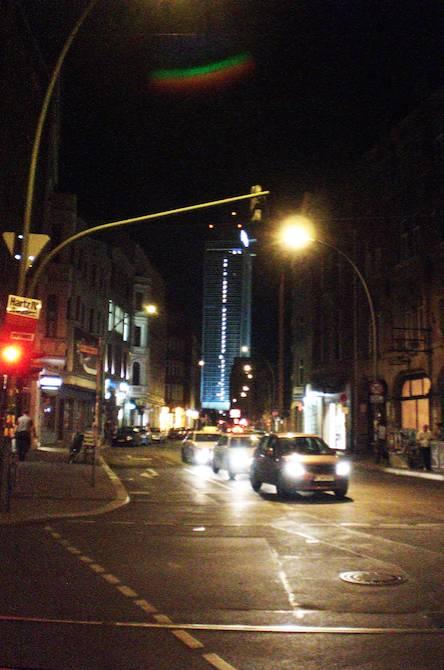 Berlin-Mitte nachts, Blick auf d. Alexanderplatz